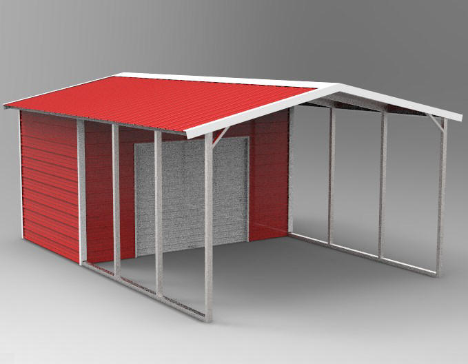 Vertical Roof Storage Building