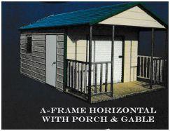 Mini storage boxed eave porch gable image