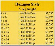 Mini storage hex prices