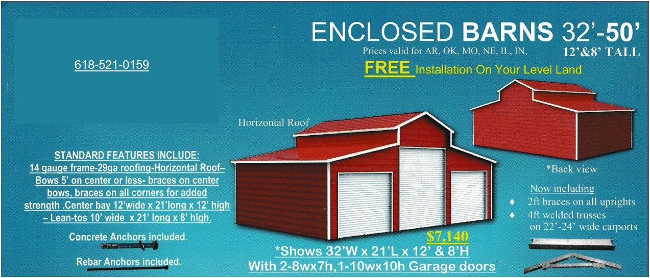 Enclosed Barns a